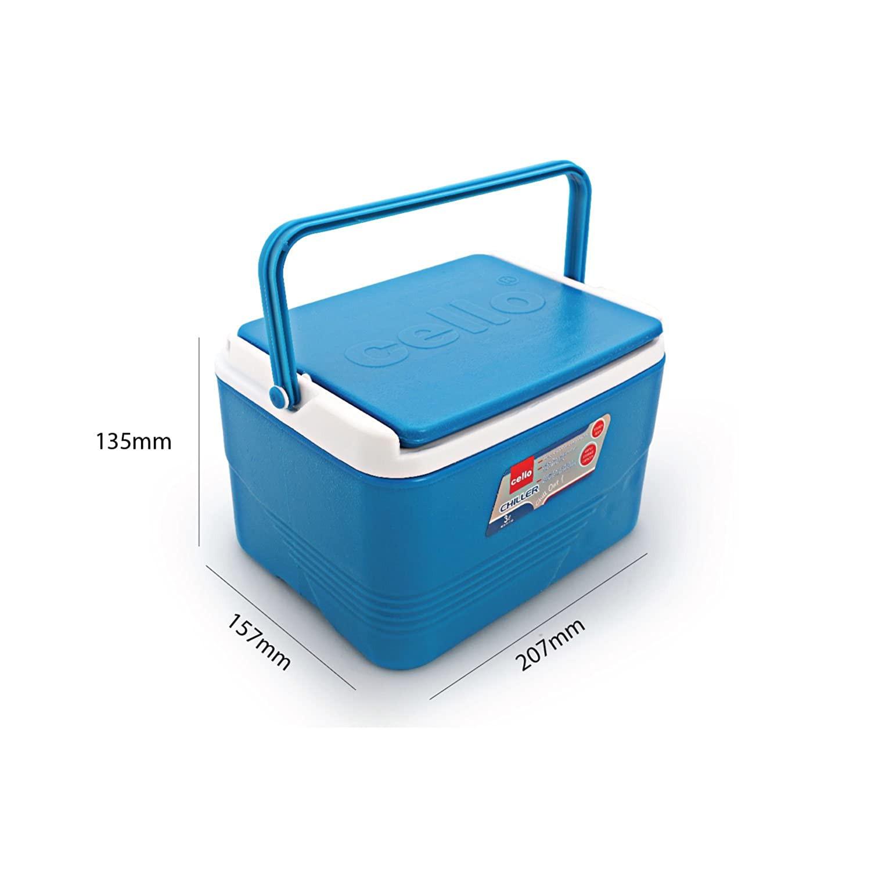 Cello Plastic Chiller Ice Packs 3litres Blue
